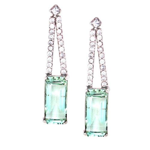 Green Topaz Drop Earrings
