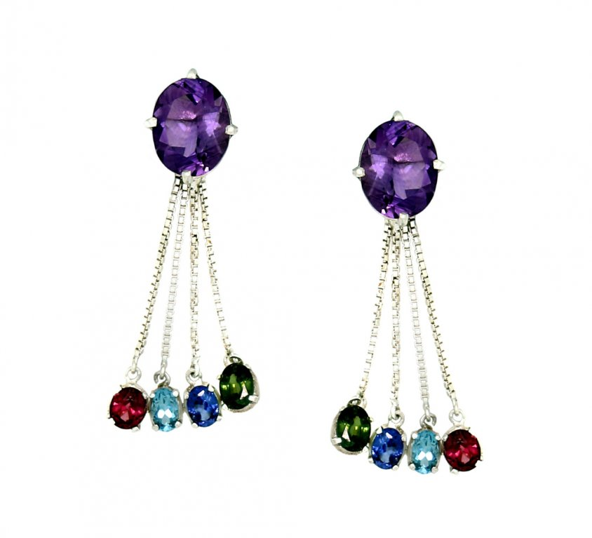 Amethyst Coloured stone drops
