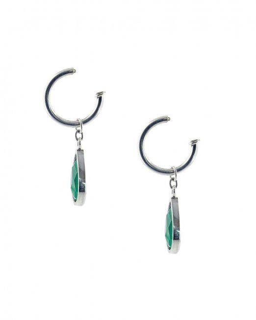 Green agate drop hoop interchangeable drop2