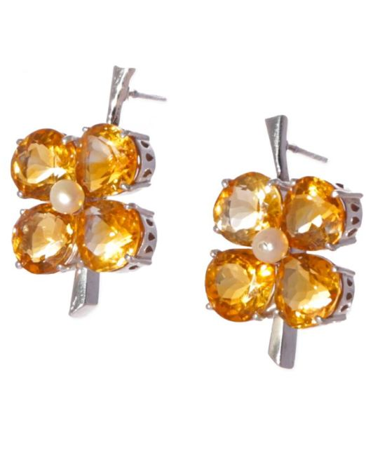Citrine-and-pearl-drop-1-inch-drop