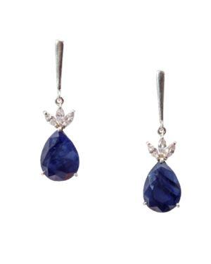 Elegant Rough-Cut Blue Sapphire Drops