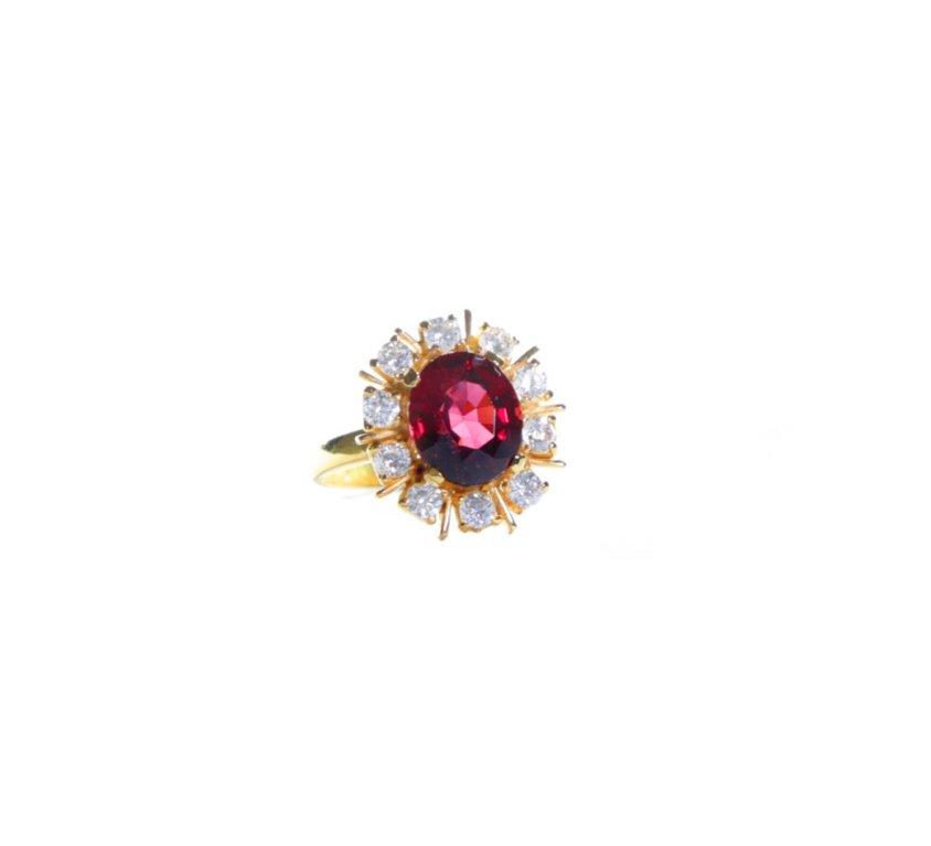 Glam Garnet Ring