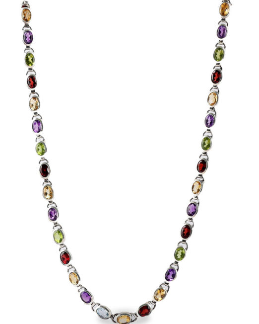 colored stone necklace