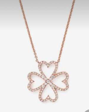 Rose Gold Plated Pendant and Chain